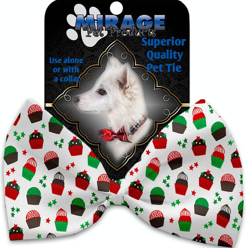 Christmas Cupcakes Pet Bow Tie Collar Accessory With Velcro-Bow Ties-Bella's PetStor