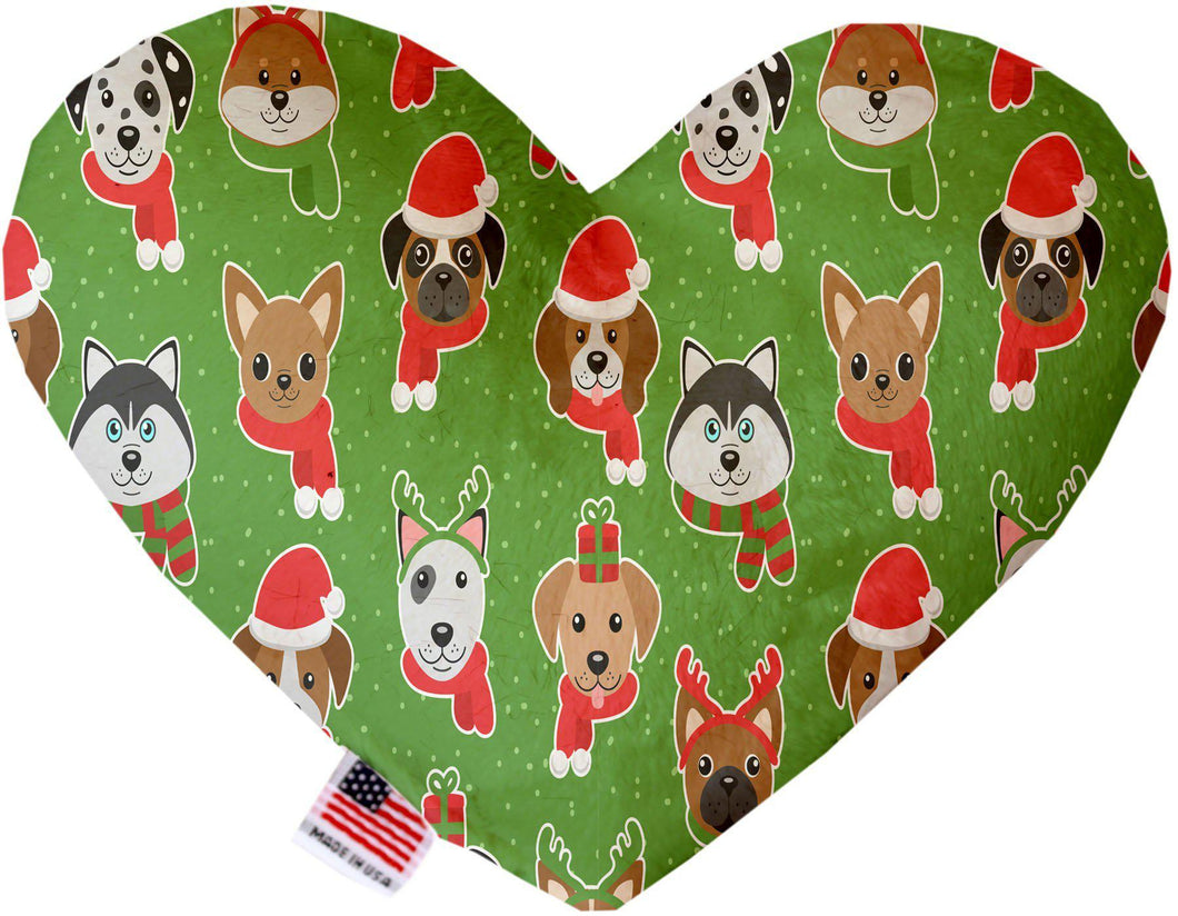 Christmas Dogs 8 Inch Heart Dog Toy-Christmas, Hannakuh-Bella's PetStor