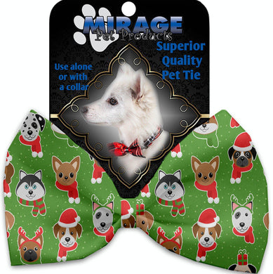Christmas Dogs Pet Bow Tie Collar Accessory With Velcro-Bow Ties-Bella's PetStor