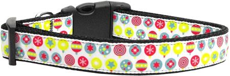 Christmas Ornament Nylon Dog Collar-Dog Collars-Bella's PetStor