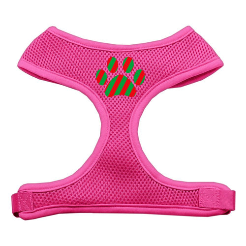 Christmas Paw Screen Print Soft Mesh Harness-Dog Harness-Bella's PetStor