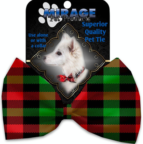 Christmas Plaid Pet Bow Tie-Christmas, Hannakuh-Bella's PetStor