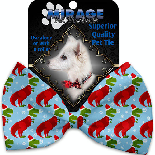 Christmas T-rex Pet Bow Tie Collar Accessory With Velcro-Bow Ties-Bella's PetStor