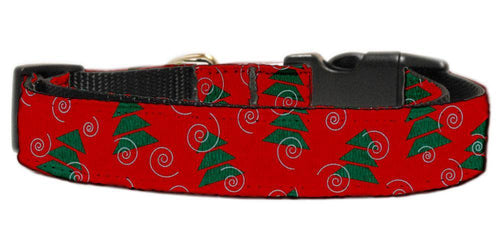 Christmas Trees Nylon Dog Collar-Christmas, Hannakuh-Bella's PetStor