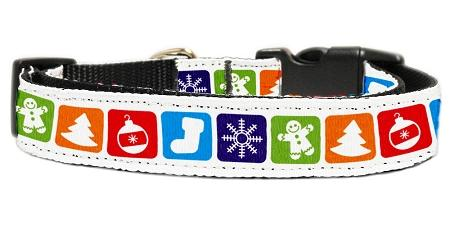 Classic Christmas Nylon Dog Collar-Christmas, Hannakuh-Bella's PetStor