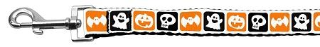 Classic Halloween Nylon Dog Leash 5/8 Inch Wide Long-Holidays-Bella's PetStor