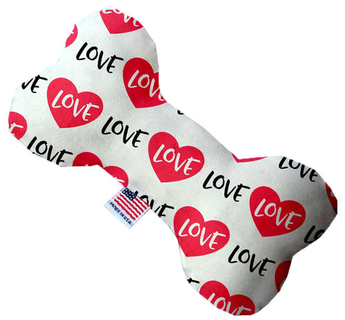 Classic Love Inch Canvas Bone Dog Toy-Made in the USA-Bella's PetStor