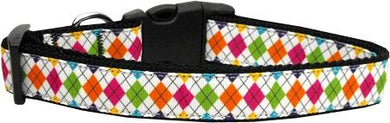 Colorful Argyle Nylon Cat Collar-Dog Collars-Bella's PetStor