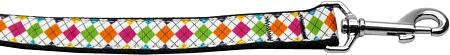 Colorful Argyle Nylon Dog Leash Inch Wide Long-Dog Collars-Bella's PetStor