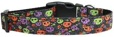 Confetti Skulls Nylon Cat Collar-Dog Collars-Bella's PetStor