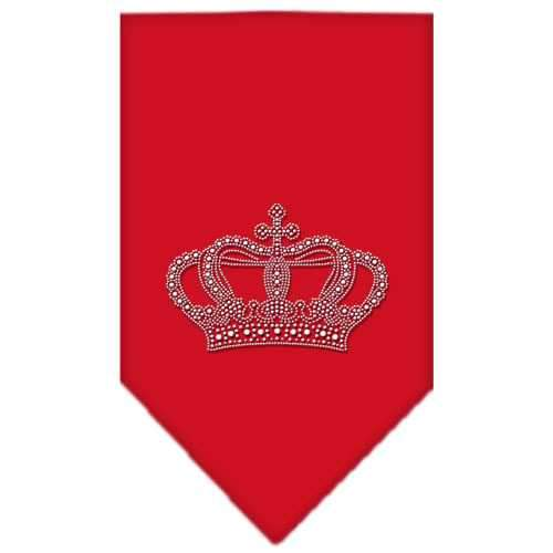 Crown Rhinestone Bandana Red Small-Crown rhinestone bandana-Bella's PetStor
