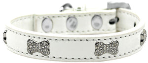 Crystal Bone Premium Dog Collar Size-Dog Collars-Bella's PetStor