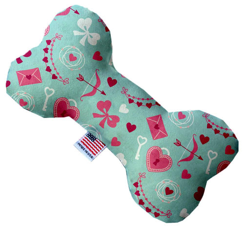 Cupid's Love Inch Canvas Bone Dog Toy-Made in the USA-Bella's PetStor