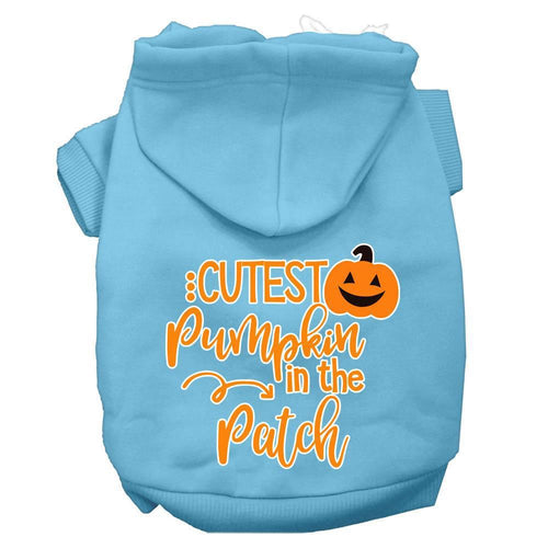 Cutest Pumpkin In The Patch Screen Print Dog Hoodie-Dog Clothing-Bella's PetStor