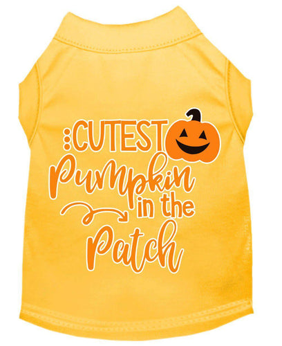 Cutest Pumpkin In The Patch Screen Print Dog Shirt-Holidays-Bella's PetStor