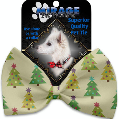 Cutesy Christmas Trees Pet Bow Tie Collar Accessory With Velcro-Bow Ties-Bella's PetStor