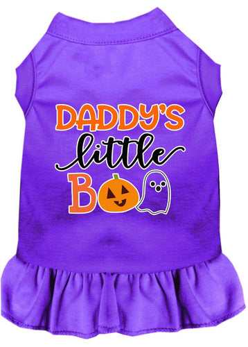 Daddy's Little Boo Screen Print Dog Dress-Dog Dresses-Bella's PetStor