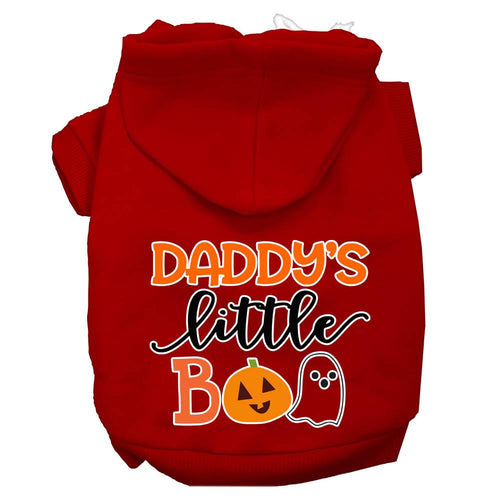 Daddy's Little Boo Screen Print Dog Hoodie-Dog-Bella's PetStor
