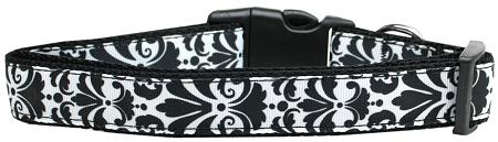 Damask Black Nylon Cat Collar-DOGS-Bella's PetStor