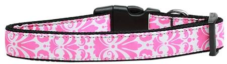 Damask Light Pink Nylon Cat Collar-DOGS-Bella's PetStor