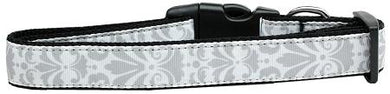 Damask Nylon Cat Collar Grey-DOGS-Bella's PetStor