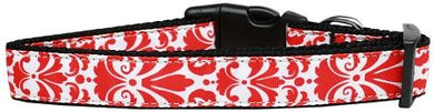 Damask Red Nylon Cat Collar-DOGS-Bella's PetStor