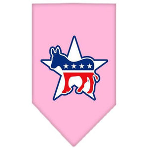 Democrat Screen Print Bandana Light Pink Large-democrat screen print bandana-Bella's PetStor