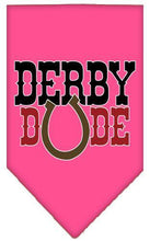 Load image into Gallery viewer, Derby Dude Screen Print Bandana-Dog Clothing-Bella's PetStor