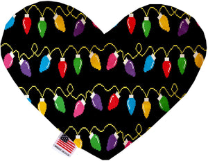 Digital Christmas Lights 6 Inch Heart Dog Toy-Christmas, Hannakuh-Bella's PetStor