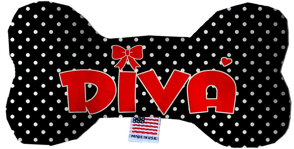 Diva Stuffing Free Inch Bone Dog Toy-Made in the USA-Bella's PetStor
