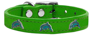 Dolphin Widget Genuine Leather Dog Collar-DOGS-Bella's PetStor