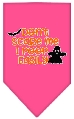 Don't Scare Me, Poops Easily Screen Print Bandana-Holidays-Bella's PetStor