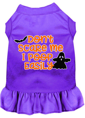 Don't Scare Me, Poops Easily Screen Print Dog Dress-Holidays-Bella's PetStor
