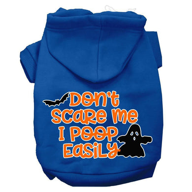 Don't Scare Me, Poops Easily Screen Print Dog Hoodie-Holidays-Bella's PetStor