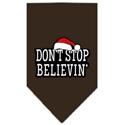 Dont Stop Believin Screen Print Bandana-Christmas, Hannakuh-Bella's PetStor