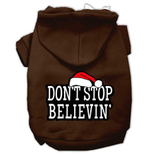 Load image into Gallery viewer, Don't Stop Believin' Screenprint Pet Hoodies Size-Dog Clothing-Bella's PetStor