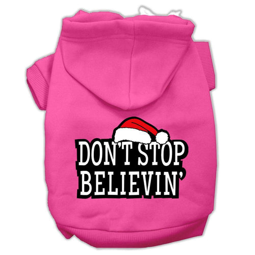 Don't Stop Believin' Screenprint Pet Hoodies Size-Dog Clothing-Bella's PetStor