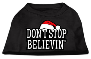 Don't Stop Believin' Screenprint Shirts Black-Dog Clothing-Bella's PetStor