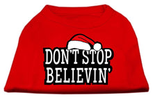 Load image into Gallery viewer, Don't Stop Believin' Screenprint Shirts Red-Dog Clothing-Bella's PetStor