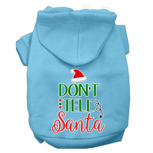 Load image into Gallery viewer, Don't Tell Santa Screen Print Dog Hoodie-Dog Clothing-Bella's PetStor