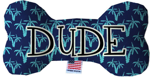 Dude Inch Fluffy Bone Dog Toy-Made in the USA-Bella's PetStor