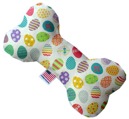 Easter Eggs Inch Canvas Bone Dog Toy-Made in the USA-Bella's PetStor
