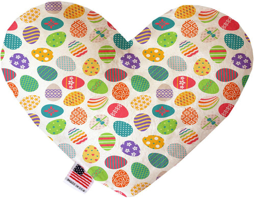 Easter Eggs Inch Canvas Heart Dog Toy-Made in the USA-Bella's PetStor
