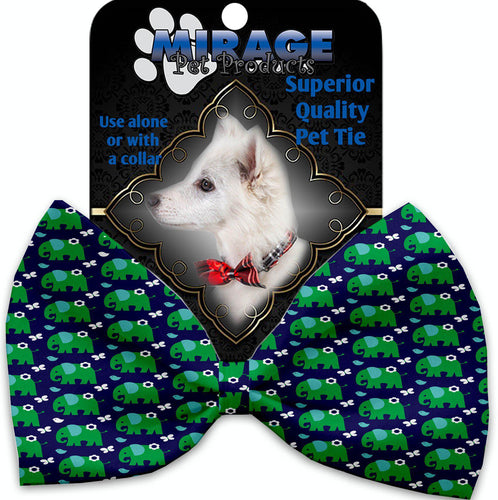 Elephants And Butterflies Pet Bow Tie Collar Accessory With Velcro-Bow Ties-Bella's PetStor