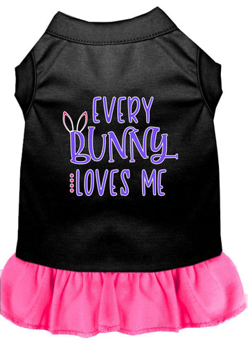 Every Bunny Loves Me Screen Print Dog Dress-Easter-Bella's PetStor