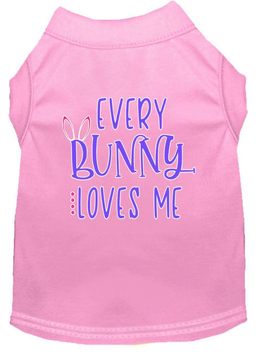 Every Bunny Loves Me Screen Print Dog Shirt-Easter-Bella's PetStor