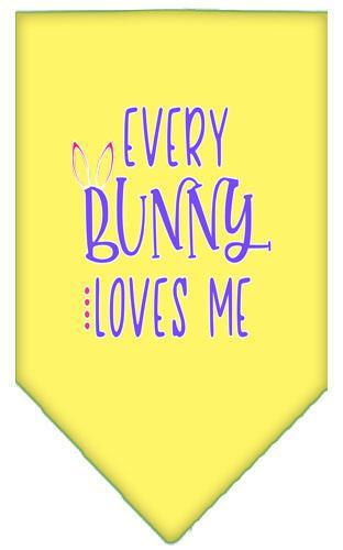 Everybunny Loves Me Screen Print Bandana-Easter-Bella's PetStor