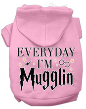 Load image into Gallery viewer, Everyday I'm Mugglin Screen Print Dog Hoodie-Dog Clothing-Bella's PetStor