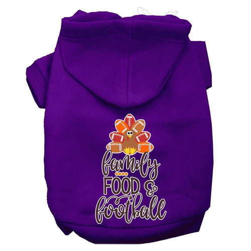 Family, Food, And Football Screen Print Dog Hoodie-Fall-Bella's PetStor