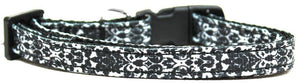 Fancy Black And White Nylon Ribbon Cat Safety Collar-Dog Collars-Bella's PetStor
